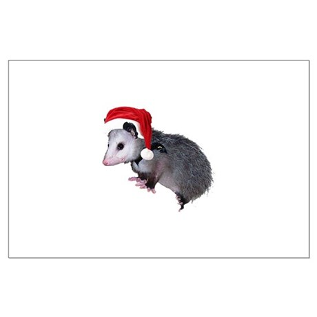 Santa Possum Large Poster