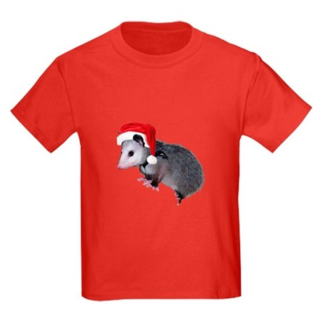 Santa Possum Kids Dark T-Shirt