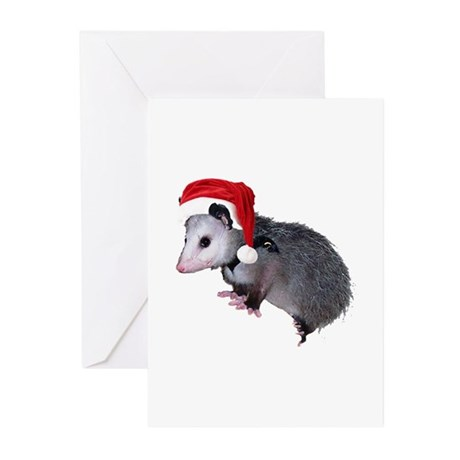 Santa Possum Greeting Cards (Pk of 10)