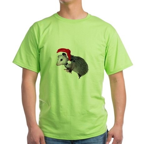 Santa Possum Green T-Shirt