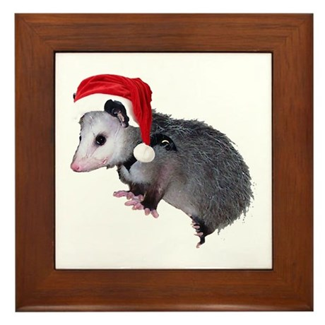Santa Possum Framed Tile
