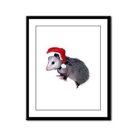 Santa Possum Framed Panel Print