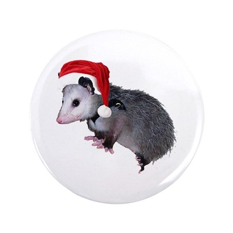 "Santa Possum 3.5"" Button (100 pack)"