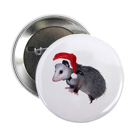 "Santa Possum 2.25"" Button"
