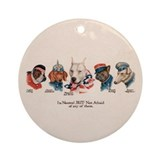 Patriotic Dogs WW1 English Bu Ornament (Round)