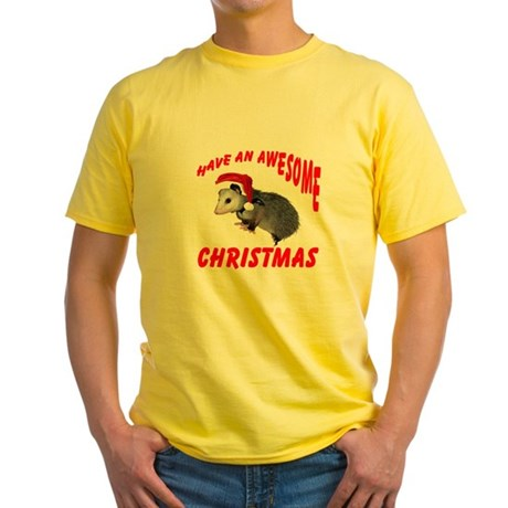 Santa Helper Possum Yellow T-Shirt