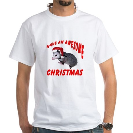 Santa Helper Possum White T-Shirt