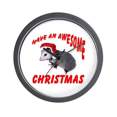 Santa Helper Possum Wall Clock