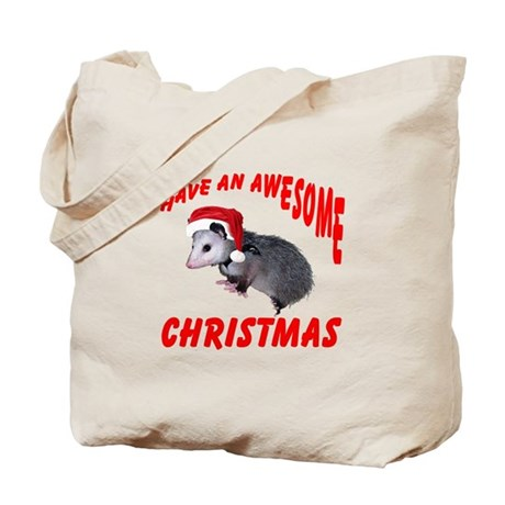 Santa Helper Possum Tote Bag