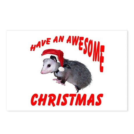 Santa Helper Possum Postcards (Package of 8)