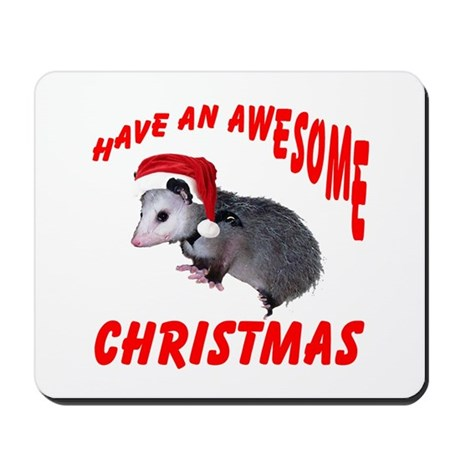 Santa Helper Possum Mousepad