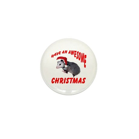 Santa Helper Possum Mini Button