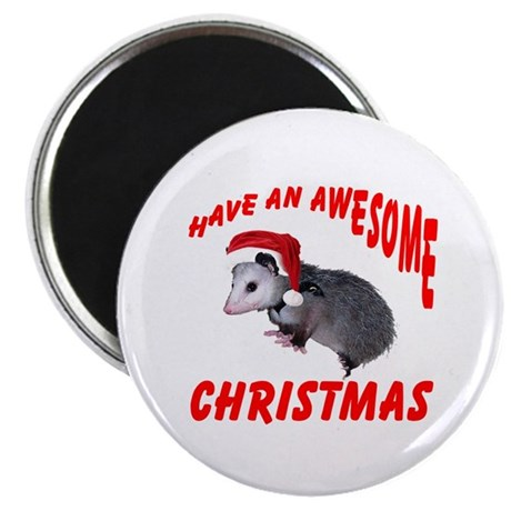 Santa Helper Possum Magnet