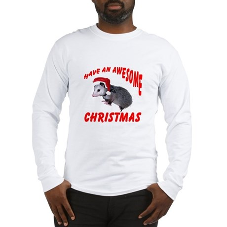 Santa Helper Possum Long Sleeve T-Shirt