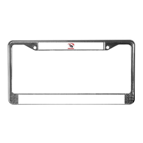 Santa Helper Possum License Plate Frame