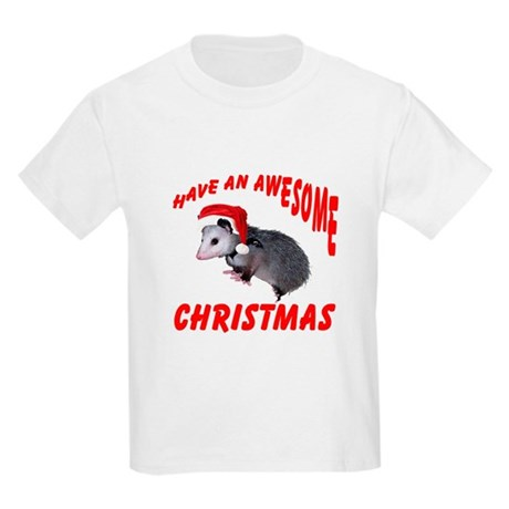 Santa Helper Possum Kids Light T-Shirt