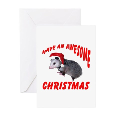 Santa Helper Possum Greeting Card