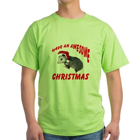 Santa Helper Possum Green T-Shirt
