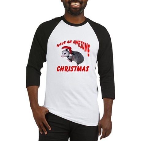 Santa Helper Possum Baseball Jersey
