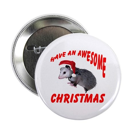 "Santa Helper Possum 2.25"" Button"