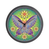 Celtic Butterfly (violet) Wall Clock