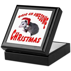Santa Helper Possum Keepsake Box