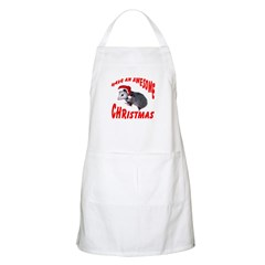 Santa Helper Possum BBQ Apron