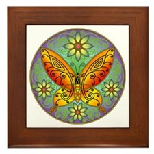 Celtic Butterfly (orange) Framed Tile