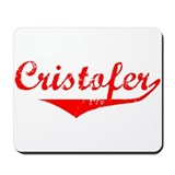 Cristofer Vintage (Red) Mousepad