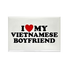 I Love My Vietnamese Boyfriend Rectangle Magnet