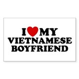 I Love My Vietnamese Boyfriend Sticker (Rectangula