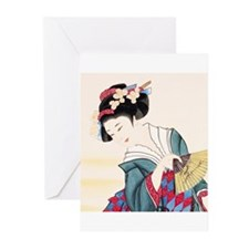 Geisha21 Greeting Cards