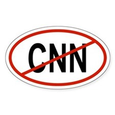 CNN Oval Decal