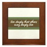 Live Simply Framed Tile
