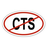 CTS Oval Decal