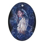Little Crow Girl Oval Ornament