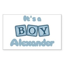 It's A Boy - Alexander Rectangle Decal