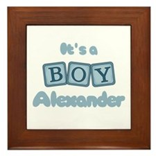 It's A Boy - Alexander Framed Tile