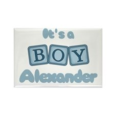 It's A Boy - Alexander Rectangle Magnet