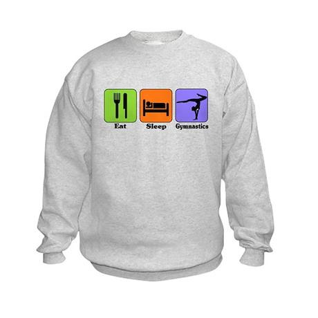 Eat Sleep Gymnastics Kids Sweatshirt