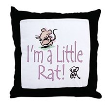 I'm a Rat Throw Pillow