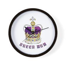 Queen Mum Wall Clock