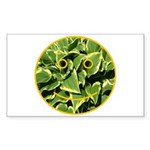 Hosta Smiley Face Rectangle Sticker