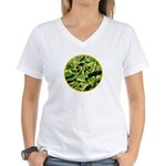 Hosta Smiley Face Women's V-Neck T-Shirt