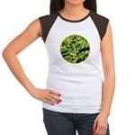 Hosta Smiley Face Women's Cap Sleeve T-Shirt