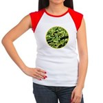 Hosta Smiley Face Women's Cap Sleeve T-Shirt