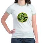 Hosta Smiley Face Jr. Ringer T-Shirt