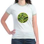 Hosta Smiley Face Jr. Ringer T-Shirt