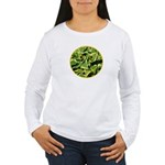 Hosta Smiley Face Women's Long Sleeve T-Shirt