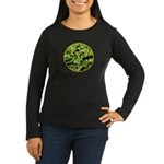 Hosta Smiley Face Women's Long Sleeve Dark T-Shirt